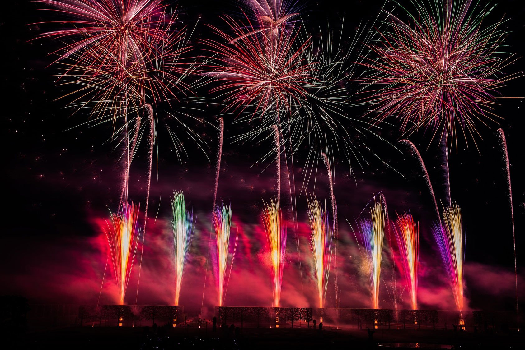international Firework Competition at Herrenhäuser Garden's