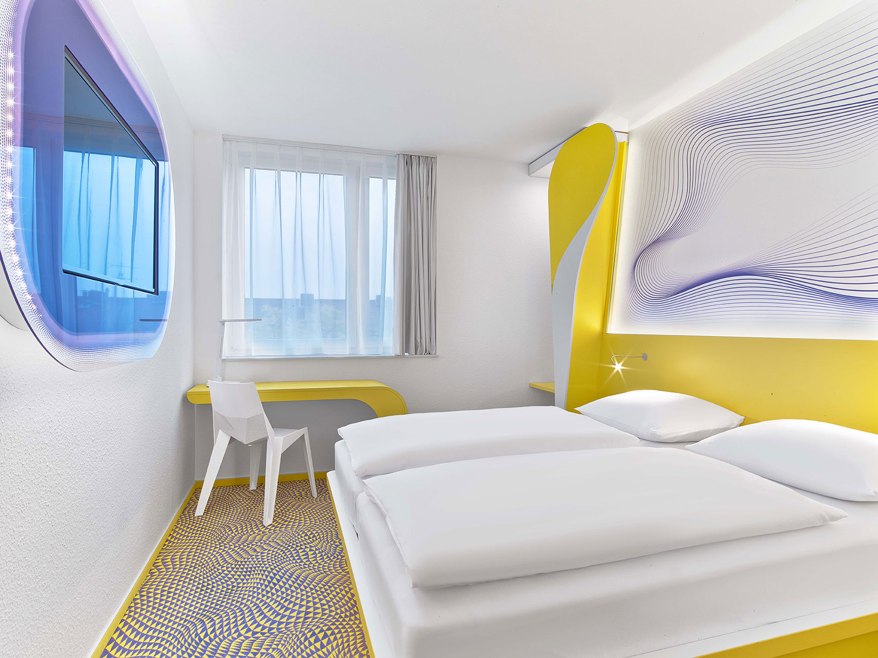 prizeotel Hannover-City Design Room with High-Comfort-Bed 1,80 x 2,00m